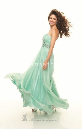 light sky blue empire rhinestone long strapless sweetheart prom dress mori